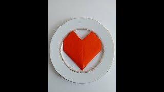 Yapılışı Kolay Kalp Şeklinde Peçete Katlama