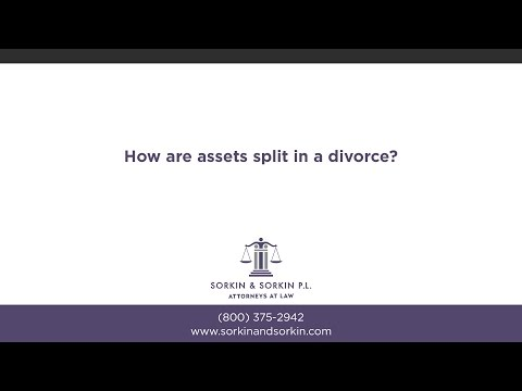 How are assets split in a divorce?