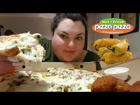 LATE NIGHT PIZZA PIZZA AND JALAPENO POPPERS MUKBANG