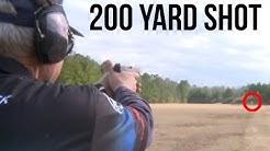 215 Yard shot with a Glock 41 .45 ACP!