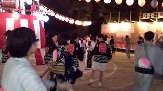 城内町会盆踊り最終日 麦わら 2018.8.15