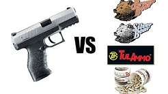 Walther PPX 9mm Vs Steel Cased Ammo