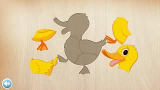 Развивающие мультики для самых маленьких Изучаем животных Пазлы для малышей