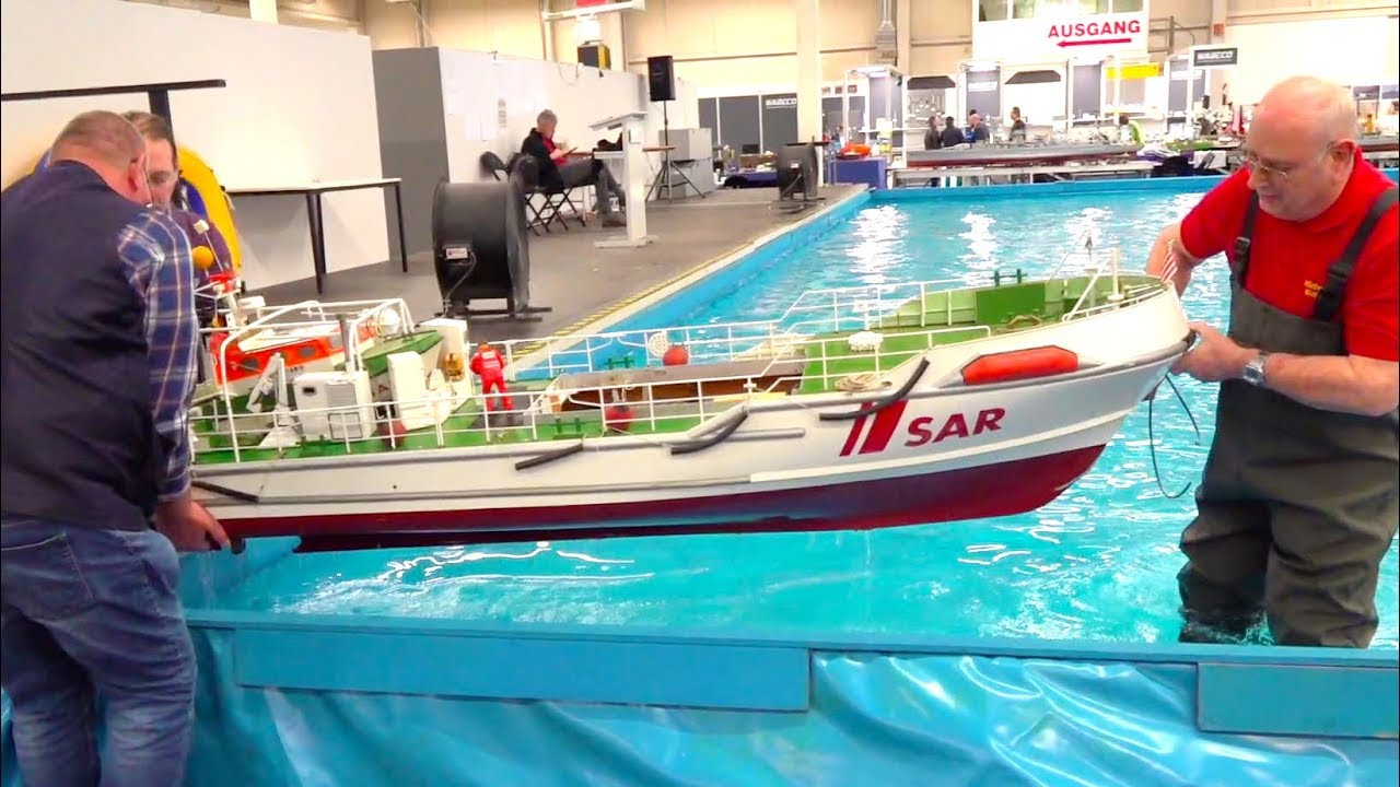 SUPER BIG RC RESCUE SHIP CRUISER SAR HERMANN RUDOLF MEYER // INTERMODELLBAU // RC SEARCH AND RESCUE
