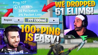 How To Play On 100 Ping And Drop 50+ Elims... (Fortnite Battle Royale)