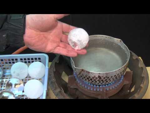 熱湯に氷とドライアイス 温度差180℃の実験 ICE And DRYICE Experiment