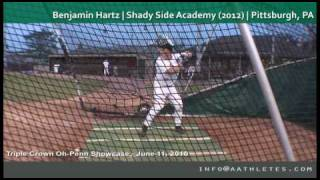 Benjamin Hartz (HIT) | Shady Side Academy (2012) | Pittsburgh, PA