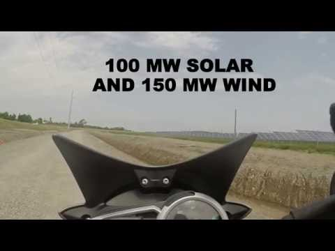 Canada's Largest Solar Farm by Motorcycle