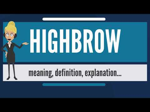 What is HIGHBROW? What does HIGHBROW mean? HIGHBROW meaning, definition & explanation