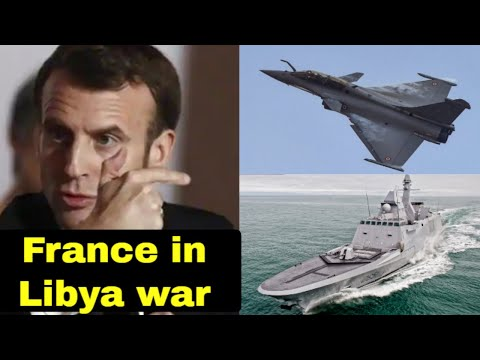 Libya: French Rafale Fighter jet over Misrata and French Frigate near Libyan coast