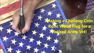 DIY  Challenge Coin Flag- Father's Day Gift