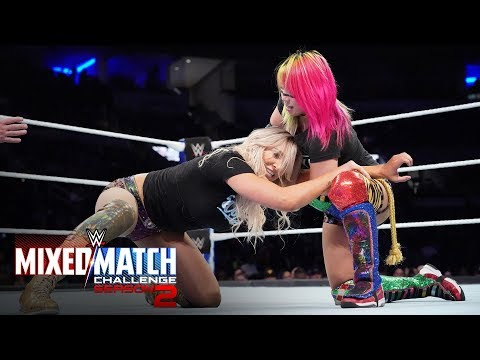 "The Miz and Asuka unleash a series of double ""It Kicks"" on Hardy & Flair"