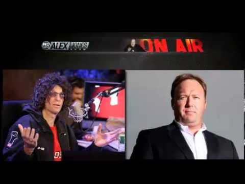 Alex Jones Interview on Howard Stern bisexual fish, Piers Morgan, guns, 9/11 and much more  2-26-13