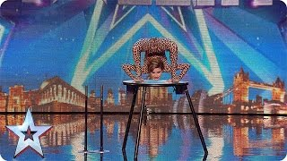 Magdalena bends over backwards for the Judges | Audition Week 1 | Britain\'s Got Talent 2015