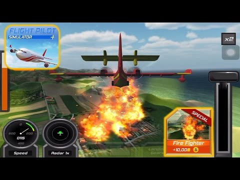Flight Pilot Simulator 3D: Flying Game For Free - Fire Fighter IOS Gameplay |Newbie Gaming