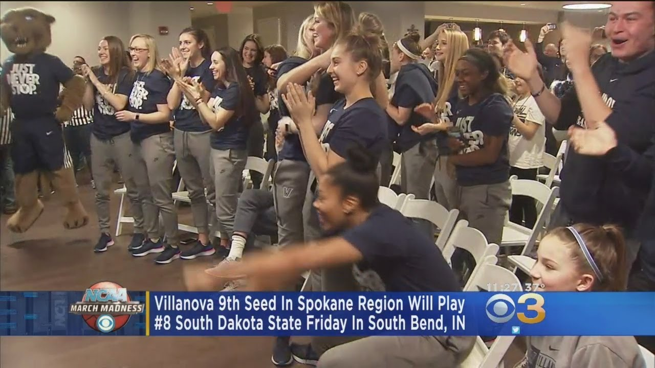 Villanova Women #9 Seed In Spokane Region, Will Play #8 South Dakota