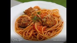 Юлия Высоцкая — Спагетти с шариками из тунца