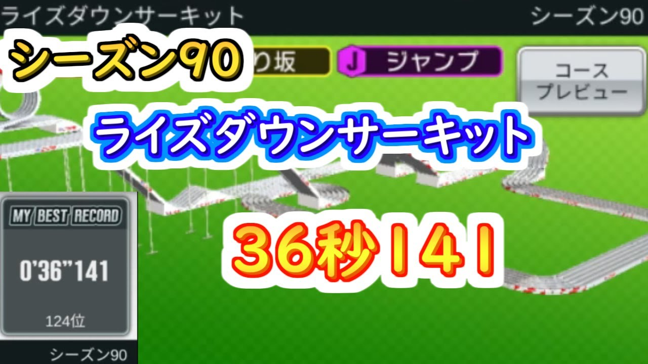 【ミニ四駆 超速GP】36秒141(シーズン90 ライズダウンサーキット)