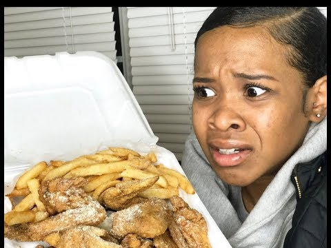 First Time Eating JJ's Fish & Chicken (FUNNY REACTION)