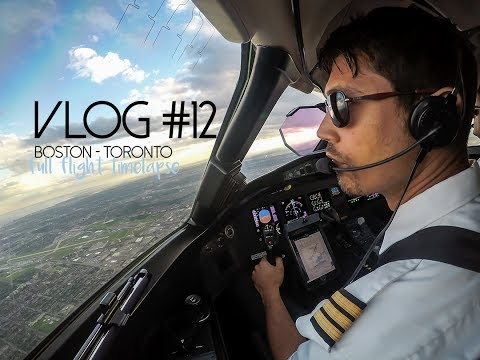 Boston to Toronto Flight - Global Express Cockpit - Vlog #12
