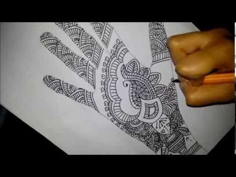 Gallery For gt Indian Mehndi Designs On Paper