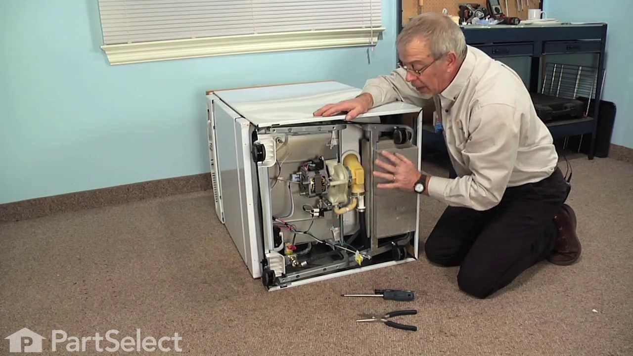 hight resolution of dishwasher repair replacing the drain solenoid ge part wd21x10268 youtube