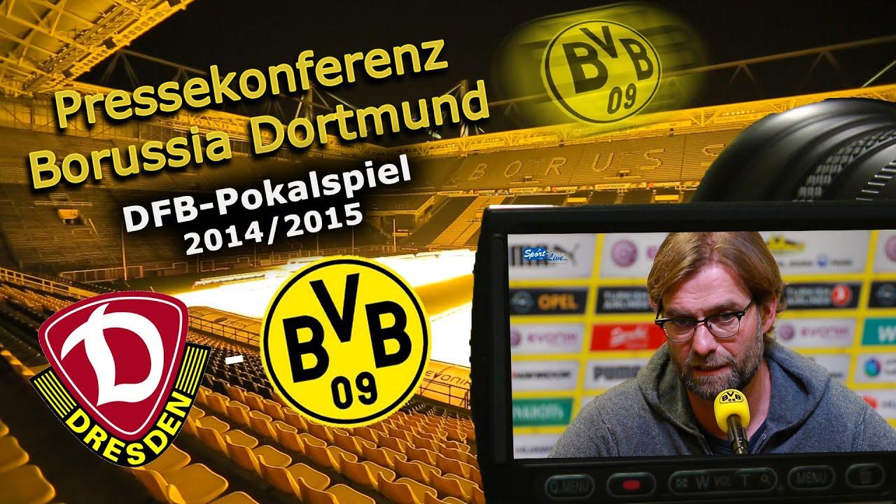 DFB-Pokalspiel: Dynamo Dresden - Borussia Dortmund: Pk mit Jürgen Klopp