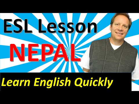 English Lesson from Nepal: Learn English from a Dangerous Cable Crossing