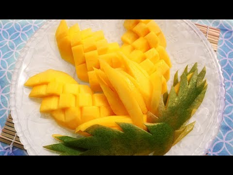 How to Make Mango Flowers - Fruit and Vegetable Carving - Sushi ...