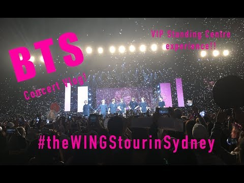 BTS 방탄소년단 The Wings Tour in Sydney 2017 @Qudos Bank Arena VIP STANDING CENTRE EXPERIENCE!!