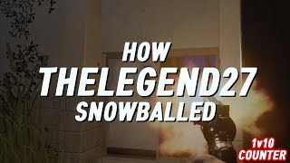 RUST SOLO 7ㆍHOW THELEGEND27 SNOWBALLED | 1v10 COUNTER