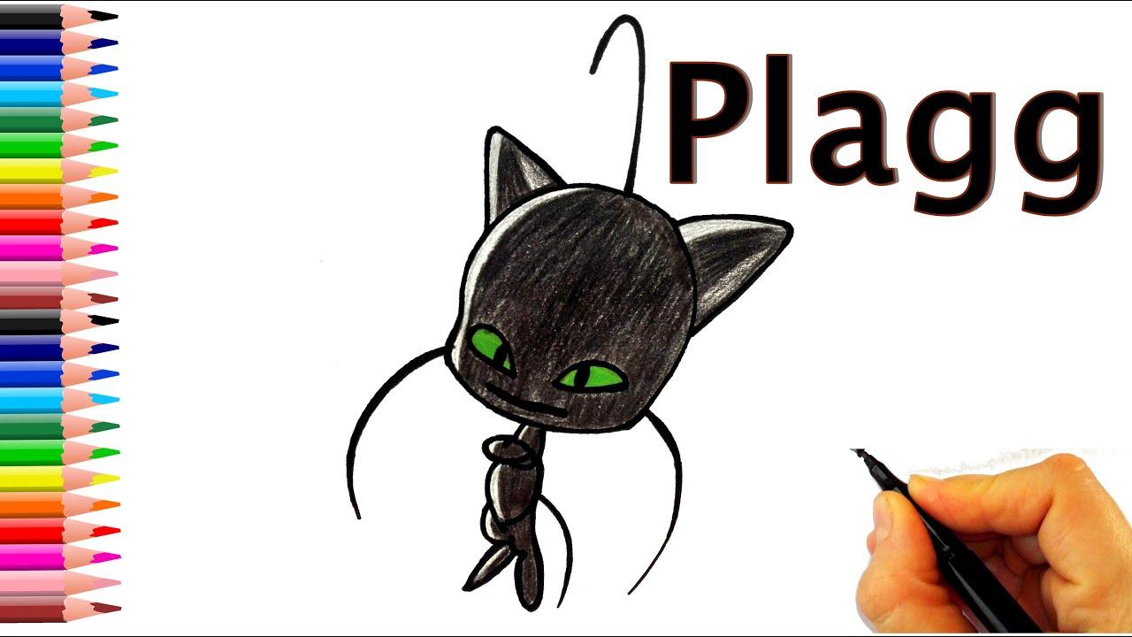 Plagg Kwami Nasıl  Çizilir? - How To Draw Plagg from Miraculous Ladybug