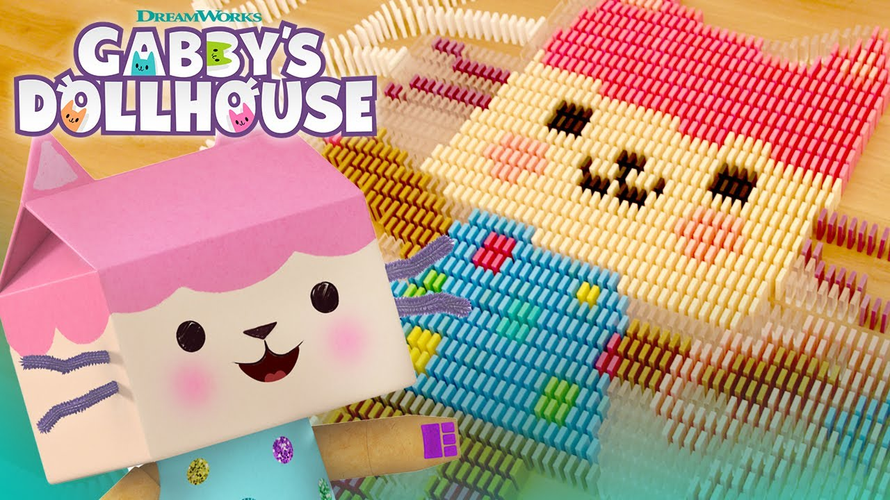Download Gabby and the Gabby Cats in 29,000 Dominoes! | GABBY'S DOLLHOUSE