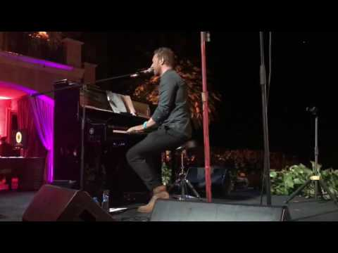 Chris Martin performs Yellow and Careless Whisper