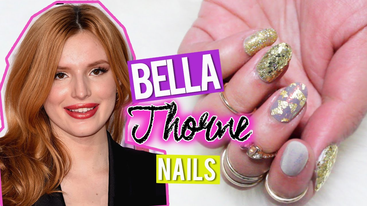 BELLA THORNE People´s Choice Awards Inspired Nails - YouTube