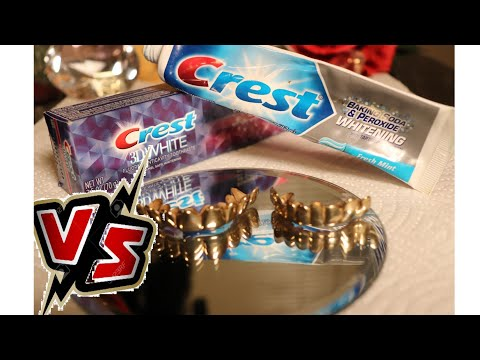 3D Crest whitening vs regular Crest whitening how i clean my gold teeth gold grillz good for smokers