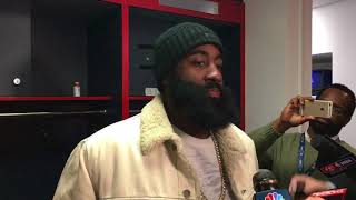 connectYoutube - James Harden On Loss vs The Wizards | Postgame Interview | Wizards vs Rockets