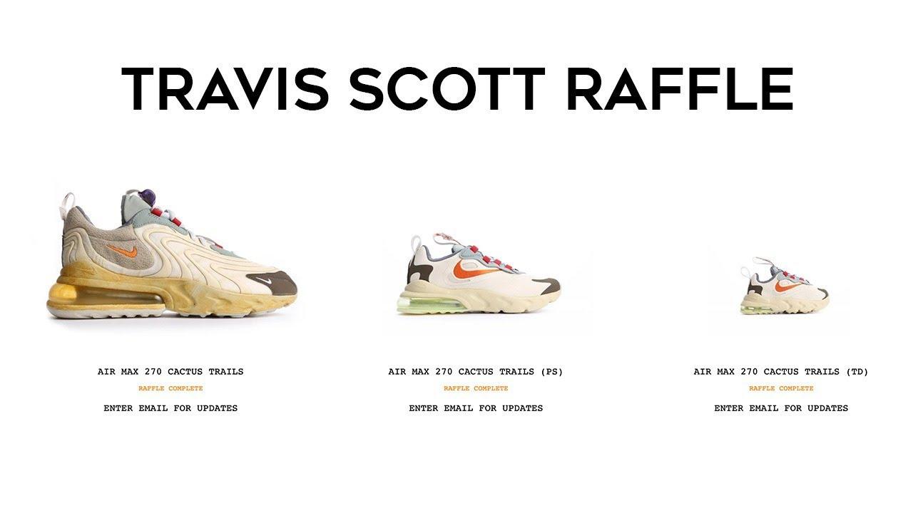 Live Cop | Travis Scott Online RAFFLE