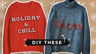 SUPER EASY CUSTOM HOLIDAY SWEATERS