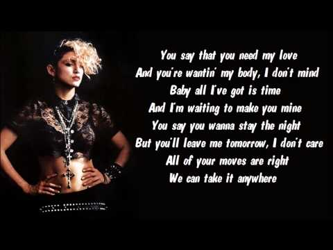 Madonna - Physical Attraction Karaoke / Instrumental with lyrics on screen