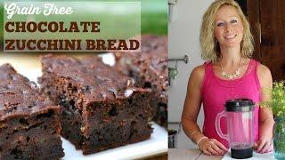 Grain Free Chocolate Zucchini Bread (paleo, Gluten Free)