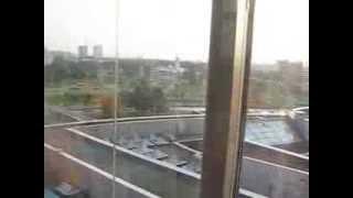 Подъём на лифте Минской библиотеки