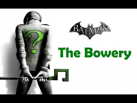"""Batman Arkham City"", ALL Riddler's challenges (trophy/secret/riddle) - The Bowery"