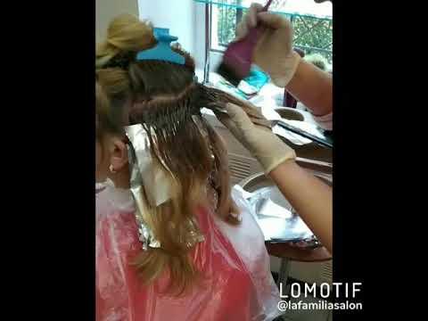 окрашивание волос парикмахерская салон красоты La Familia Salon Бровары Гагарина 11