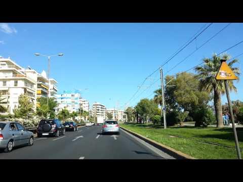 Greece, Athens coastal road car ride, Αθήνα παραλιακή 1080p