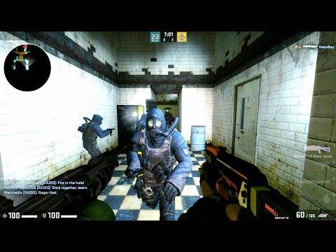 CS:GO - Zombie Escape mod gameplay on Elevator escape map - Steamgamers server
