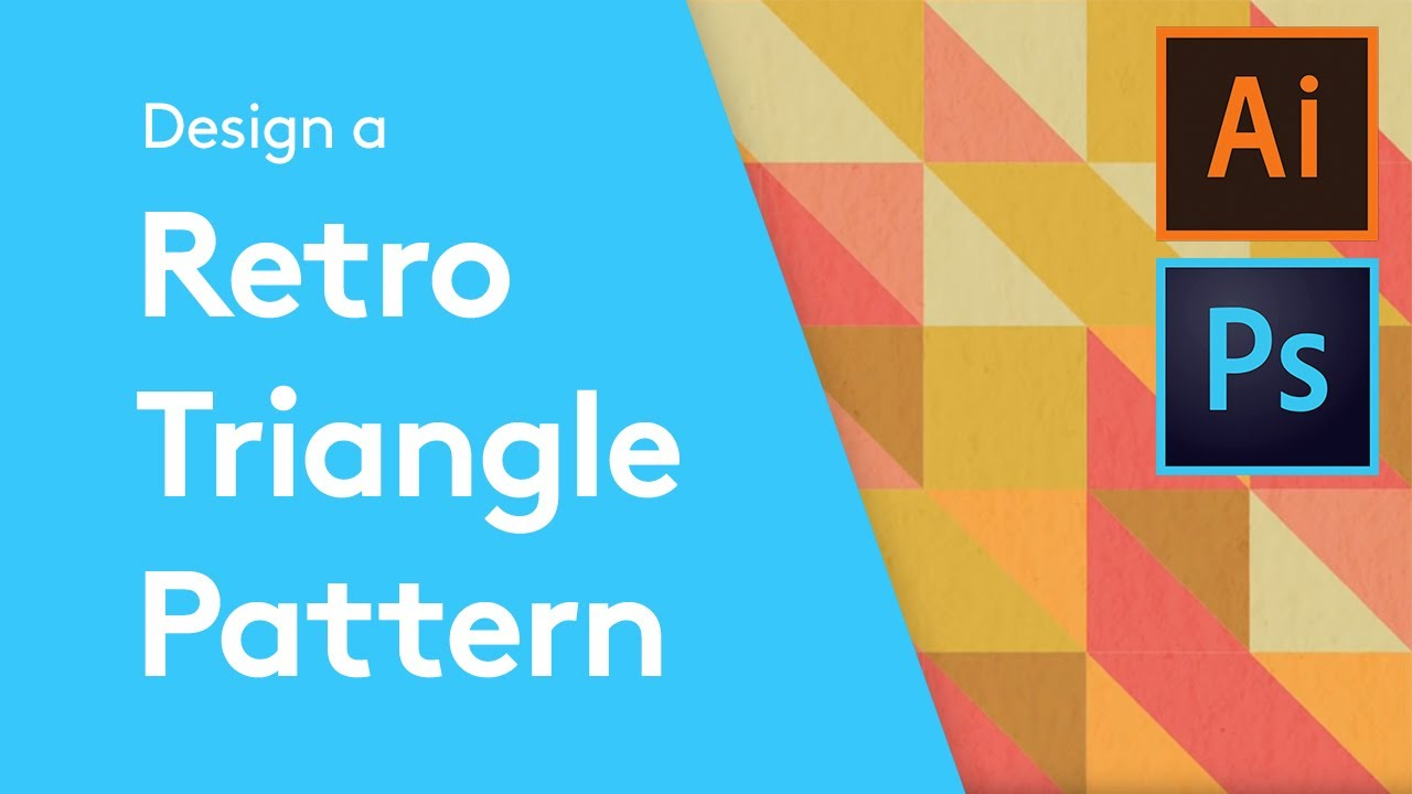 Flat Design Tutorials How To Make A Retro Triangle Pattern With Inkscape39s New Voronoi Diagram Generator The Circles Are Created Adobe Illustrator And Photoshop Youtube