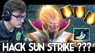 Miracle- Invoker Show Skill Hack Sun Strike ??? Dota2 Gameplay