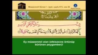 73-Müzzemmil Sûresi –Takipli ve Mealli - İshak Danış