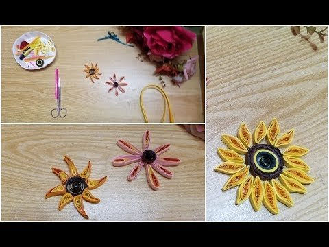 DIY paper quilling sunflower creation idea🌻🌻